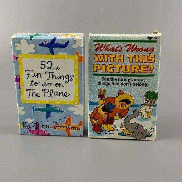 Vintage Kids Card Games Activity Boredom Travel